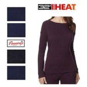 32 Degrees Ladies' Soft Fleece Top Plum Space Dye